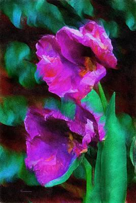 Cs5 Digital Art - Magenta Nights by Georgiana Romanovna