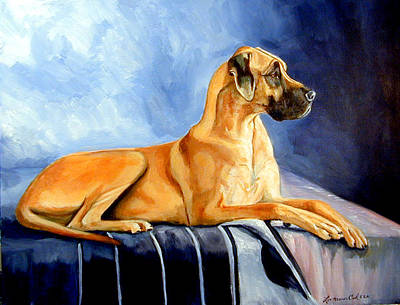 Magesty Great Dane Art Print by Lyn Cook