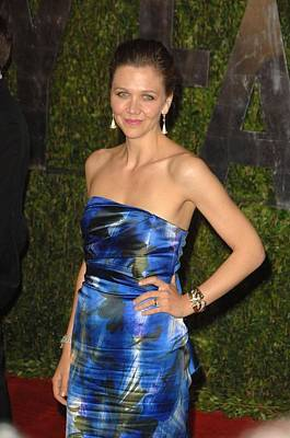 Maggie Gyllenhaal Wearing A Dries Van Art Print by Everett