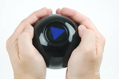 Magic Eight Ball, No Message Art Print by Photo Researchers, Inc.