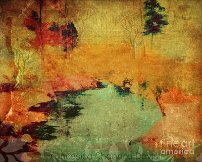 Magic In Autumn Mist Art Print by Sacred  Muse