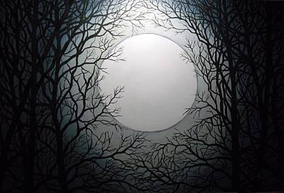 Magic Moon Art Print by Anne Thomassen