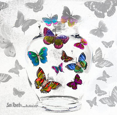 Magic Moth Jar Art Print by Suni Roveto