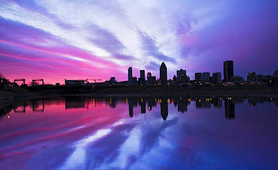 Montreal Cityscapes Photograph - Magic Sunset by Mircea Costina Photography