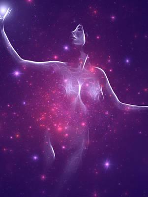 Female Body Digital Art - Magic Touch 2 by Steve K