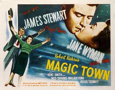 Magic Town, James Stewart, Jane Wyman Art Print by Everett