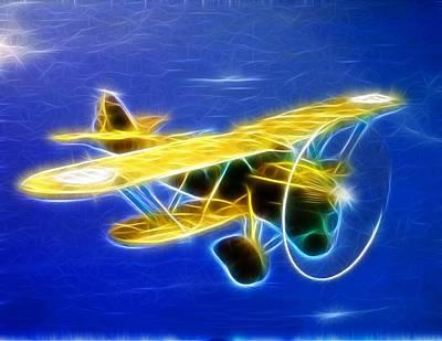 Barnstormer Drawing - Magical Biplane by Paul Van Scott