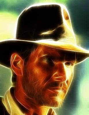 Magical Indiana Jones Art Print by Paul Van Scott