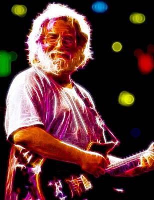 The Grateful Dead Drawing - Magical Jerry Garcia by Paul Van Scott