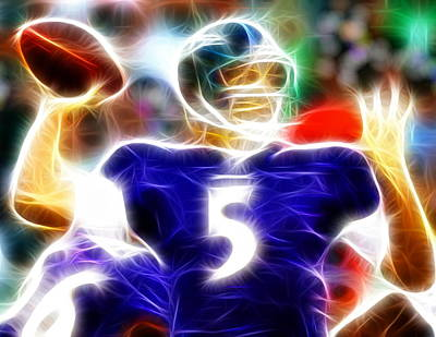 Magical Joe Flacco Print by Paul Van Scott