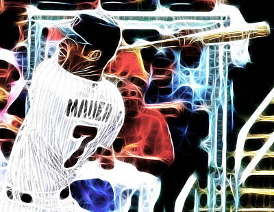 Joe Mauer Mixed Media - Magical Joe Mauer by Paul Van Scott