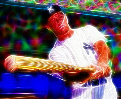 Magical Mickey Mantle Art Print by Paul Van Scott