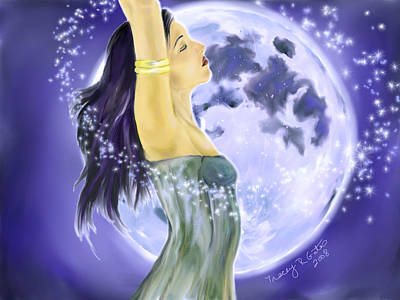 Painting - Magical Moonlight by Tracey R Gates