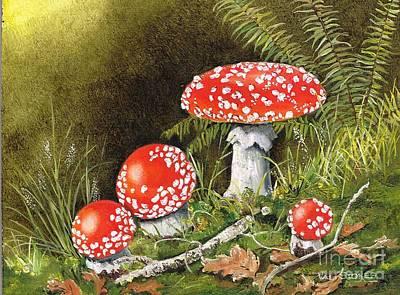 Magical Mushrooms Original by Val Stokes