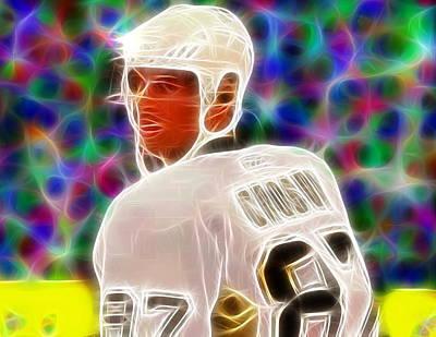 Magical Sidney Crosby Art Print by Paul Van Scott
