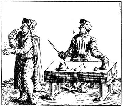 Conjurers Photograph - Magician, 17th Century by Granger