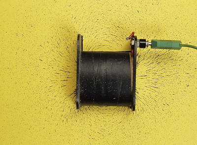 Magnetic Field Of A Solenoid Art Print by Andrew Lambert Photography