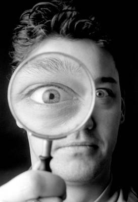 Magnified Eye Art Print by Victor De Schwanberg