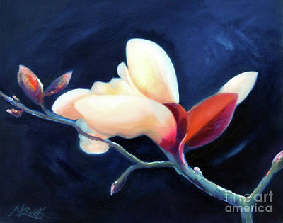 Print featuring the painting Magnolia Blossom by Michael Rock
