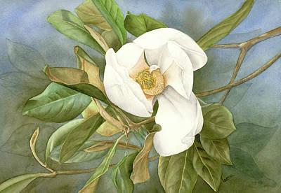 Magnolia Painting - Magnolia II by Leona Jones