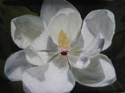 Magnolia Art Print by Iris Nazario Dziadul