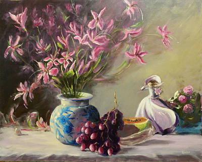 Magnolias Art Print by Thomas Kearon