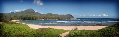 Mahaulepu Beach Photograph - Mahaulepu Beach Kauai by Peggy Zachariou