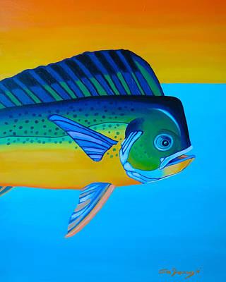 Painting - Mahi-mahi by John  Sweeney