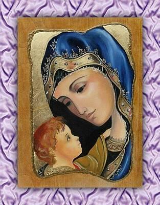 Maica Domnului Cu Pruncul - Virgin Whit Child Original