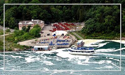 New York State Photograph - Maid Of The Mist Tour Boat At Niagara Falls by Rose Santuci-Sofranko