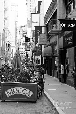 Maiden Lane San Francisco California - 5d19376 - Black And White Art Print by Wingsdomain Art and Photography