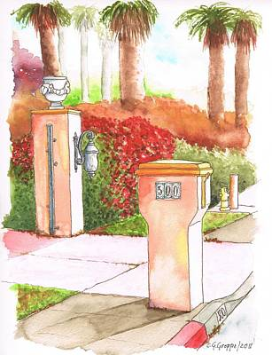 Red Letter Days Painting - Mail Box In Palm Springs - California by Carlos G Groppa