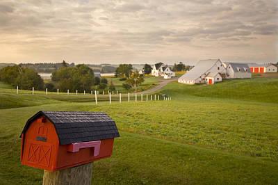 Mayfield Photograph - Mail Box On Farm Land, Mayfield, Prince by John Sylvester