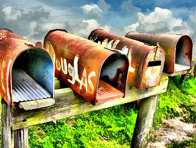 Mail Boxes Art Print by Tom Griffithe