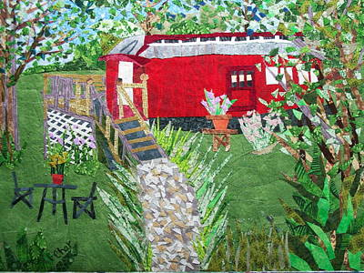 Mail Car Guest House At Lacaboose B And B Art Print by Charlene White
