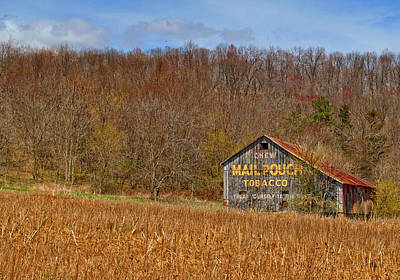 Mail Pouch Photograph - Mail Pouch Barn by Brian Mollenkopf