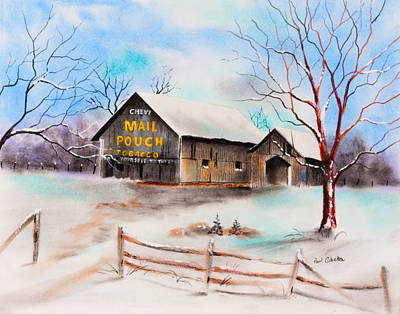 Pastel - Mail Pouch Barn Nutter Fort Wv by Paul Cubeta