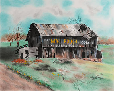 Pastel - Mail Pouch Barn Somerset County No 4 by Paul Cubeta