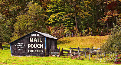 Photograph - Mail Pouch Tobacco Barn by Kathleen K Parker