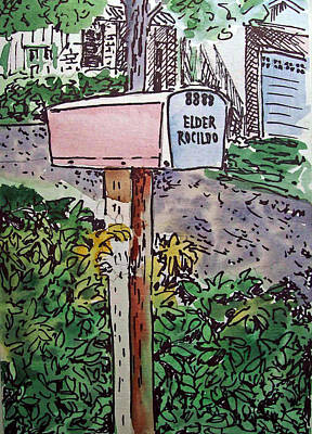 Mailbox Sketchbook Project Down My Street Art Print by Irina Sztukowski