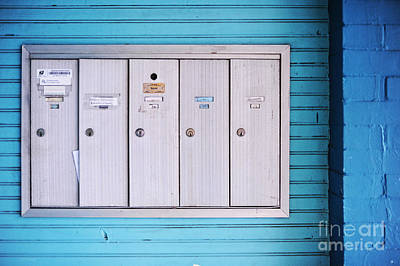 Silver Turquoise Photograph - Mailboxes by HD Connelly