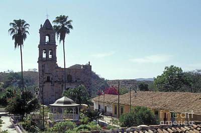 Photograph - Main Plaza Copala Mexico by John  Mitchell