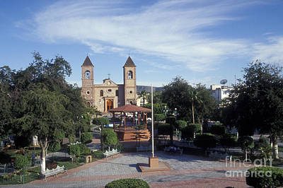 Photograph - Main Plaza La Paz Baja Mexico by John  Mitchell