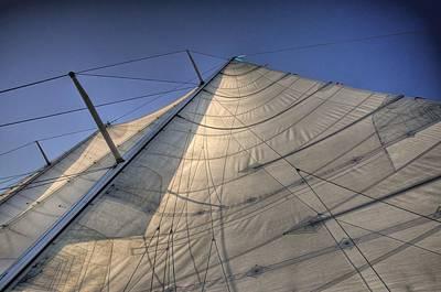 Rowboat Digital Art - Main Sail by Barry R Jones Jr