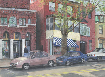 Painting - main st no Piermont NY by Stuart B Yaeger
