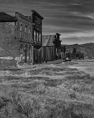 Telephone Poles Photograph - Main Street Bodie Ca by Troy Montemayor