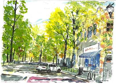 Main Street Greenville Spring Art Print