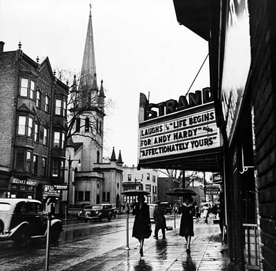 Main Street. The Marquee Of The Strand Art Print