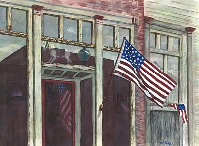 Main Street Usa Art Print by Rosie Phillips