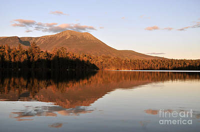 Soap Suds - maine 25 Baxter State Park Mt. Khatahdin Reflection in Daicey Pond by Terri Winkler